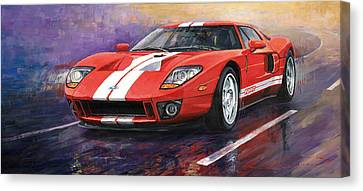 Ford Gt 2005 Canvas Print by Yuriy  Shevchuk