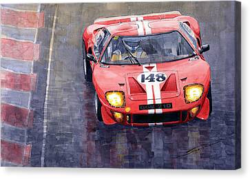 Ford Gt 40 24 Le Mans  Canvas Print