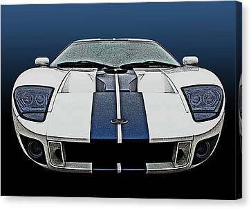 Ford Gt-40 Head On Canvas Print by Samuel Sheats