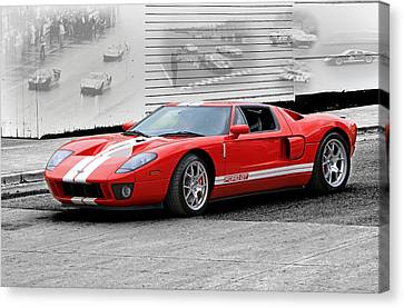 Ford Gt And Gt40 Memories Canvas Print by Christopher McKenzie