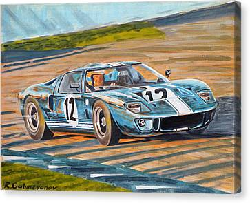 Ford Gt40 Canvas Print by Rimzil Galimzyanov