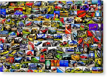 Ford Hot Rod Collage Canvas Print by motography aka Phil Clark