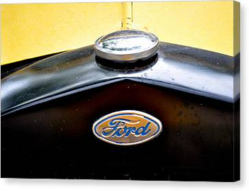 Ford Model A Badge Canvas Print by Marty Koch