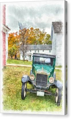 Ford Model A Sedan Canvas Print by Edward Fielding
