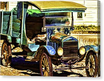 Canvas Print featuring the painting Ford by Muhie Kanawati