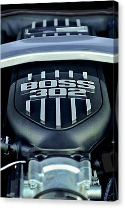 Ford Mustang Boss 302 Engine Canvas Print by Jill Reger