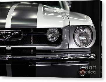 Vintage Car Canvas Print - Ford Mustang Fastback - 5d20342 by Wingsdomain Art and Photography