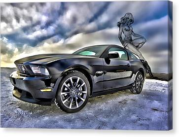 Ford Mustang - Featured In Vehicle Eenthusiast Group Canvas Print by EricaMaxine  Price