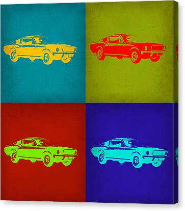 Ford Mustang Pop Art 1 Canvas Print by Naxart Studio