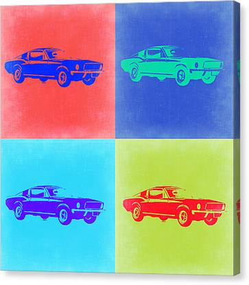 Ford Mustang Pop Art 2 Canvas Print by Naxart Studio