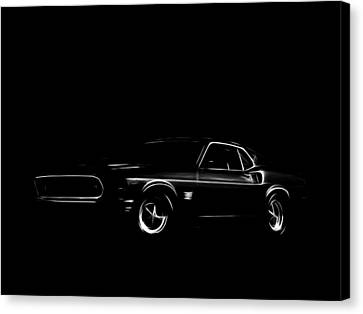 Ford Mustang  Canvas Print by Steve K