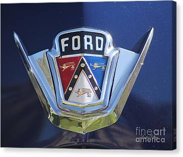 Ford On Blue Canvas Print by Dodie Ulery