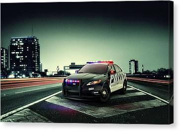 Ford Police Interceptor Canvas Print