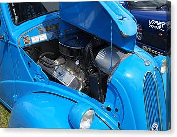 British Hot Rod Canvas Print - Ford Popular Hot Rod by Adrian Beese
