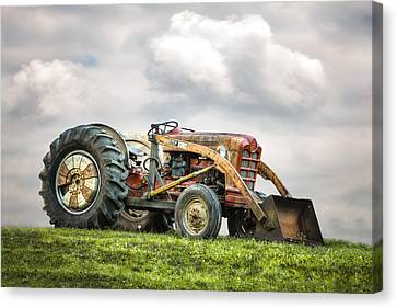Ford Powermaster Tractor On A Hill Canvas Print
