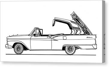 Retractable Ford Top Going Down Canvas Print