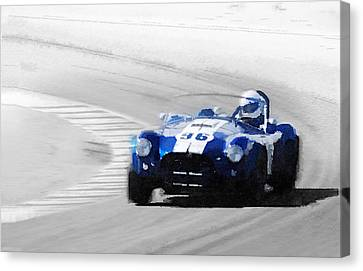 Ford Shelby Cobra Laguna Seca Watercolor Canvas Print by Naxart Studio