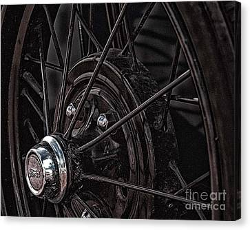 Ford Spoke Wheel Canvas Print
