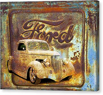 Ford Coupe Rust Canvas Print by Steve McKinzie