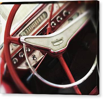 Canvas Print featuring the photograph Ford Sunliner by Bradley R Youngberg
