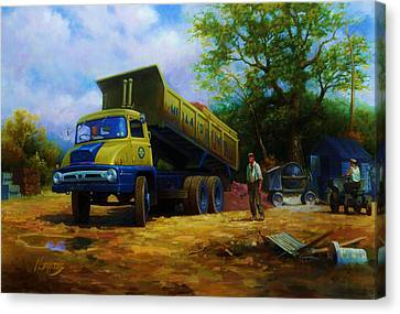 Ford Thames Trader Canvas Print by Mike  Jeffries