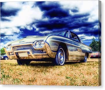 Ford Thunderbird Hdr Canvas Print