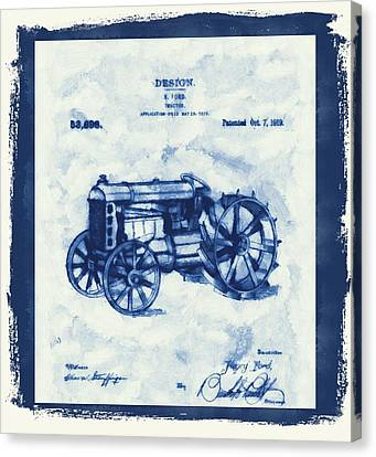 Ford Tractor Patent Canvas Print