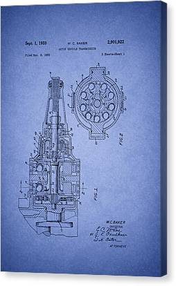 Transmission Canvas Print - Ford Vehicle Transmission Patent 1959 by Mountain Dreams