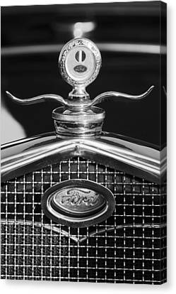 Ford Winged Hood Ornament Black And White Canvas Print by Jill Reger