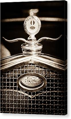 Ford Winged Moto Meter Canvas Print by Jill Reger