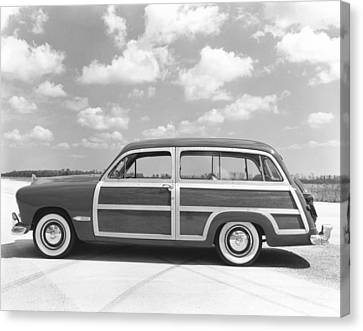 Ford Woody Station Wagon Canvas Print by Underwood Archives