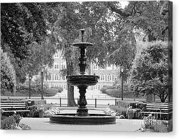 Fordham University Fountain Canvas Print by University Icons