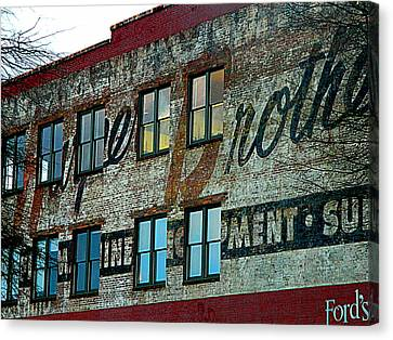 Fords Restaurant In Greenville Sc Canvas Print by Kathy Barney