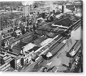 Ford Plant Canvas Print - Ford's River Rouge Plant by Underwood Archives