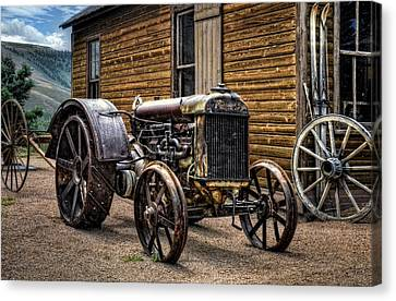 Fordson Tractor Canvas Print by Ken Smith
