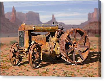Fordson Tractor Canvas Print by Mike McGlothlen