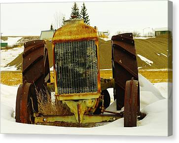 Fordson Tractor Plentywood Montana Canvas Print by Jeff Swan