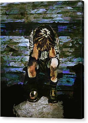 Forecast - Portrait Of A Sad Boy Canvas Print