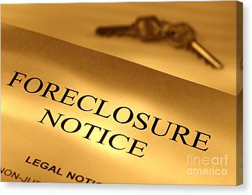Foreclosure Notice Canvas Print by Olivier Le Queinec