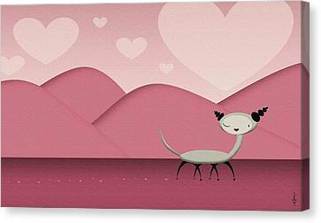 Foreign Love Canvas Print by Kate Paulos