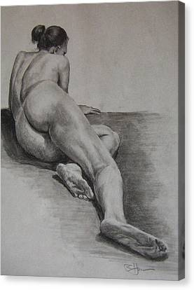 Foreshortened Nude Canvas Print by Rachel Hames