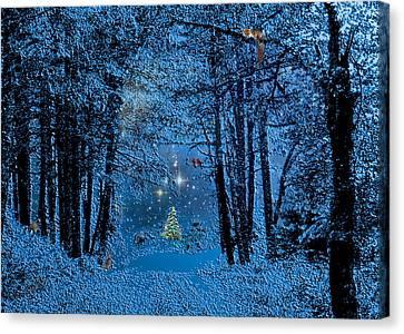 Forest Animal Christmas Canvas Print