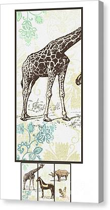 Forest Animals Group Suitable For Hanging Frames Canvas Print