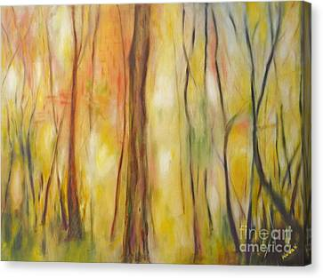 Forest Awakening Canvas Print by Barbara Anna Knauf
