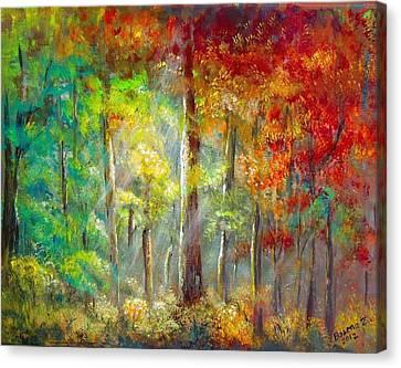 Canvas Print featuring the painting Forest by Bozena Zajaczkowska