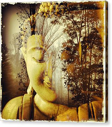 Forest Buddha Canvas Print by Paul Cutright