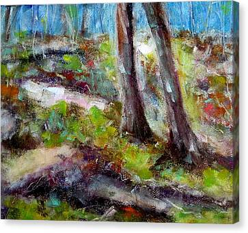 Canvas Print featuring the painting Forest Carpet by Katie Black