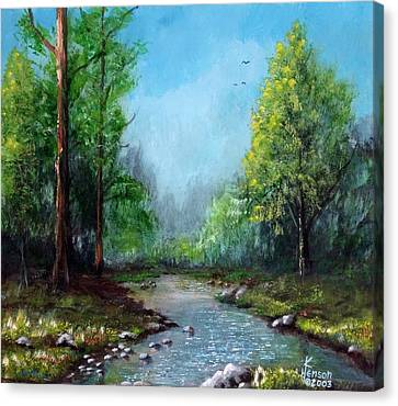 Canvas Print featuring the mixed media Forest Creek by Kenny Henson