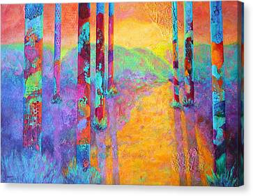 Forest Fantasy Canvas Print by Nancy Jolley