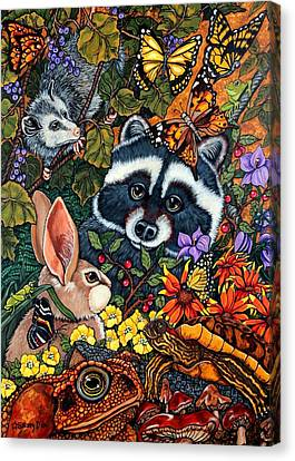 Forest Fantasy Canvas Print by Sherry Dole